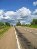 The road stretches into the distance Royalty Free Stock Photography