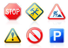 Road-style icons Royalty Free Stock Image