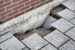 Road subsidence stock images
