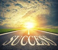 Road of the success. The way for new business opportunities royalty free stock image