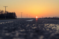 Road sun Royalty Free Stock Photography
