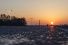 Road sun Royalty Free Stock Images