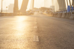 Road with sun lighting. Royalty Free Stock Image