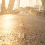 Road with sun lighting. Royalty Free Stock Photo