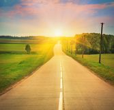 Road in sunlight Royalty Free Stock Photography