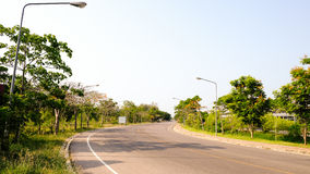 Road with sunlight in Phetchaburi Thailand. Road no car with sunlight in Phetchaburi Thailand Stock Photography