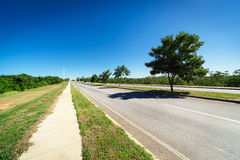 Road on a sunny day Royalty Free Stock Image