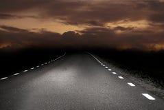 Road at sunrise Stock Image