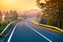 Road at sunrise royalty free stock image