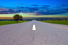 Road in sunset Royalty Free Stock Photography