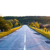 Road at sunset. Summer. Travels. Landscape Recreation Royalty Free Stock Images