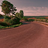 Road at Sunset Royalty Free Stock Photos