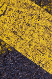 Road surface markings Royalty Free Stock Image