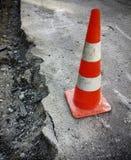 Road surface repair works Stock Photos