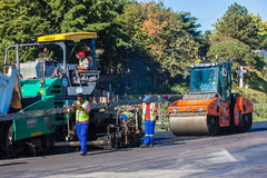 Road Surfacing Asphalt Machine Roller Stock Photography