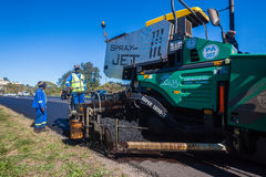 Road Surfacing Asphalt Machines Stock Photos