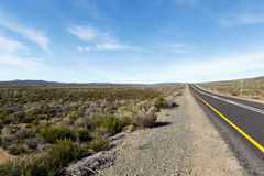 Road from Sutherland South Africa to Tankwa Karoo National Park Royalty Free Stock Photography