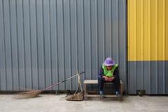 Road sweeper in Bangkok Stock Image