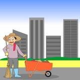 Road Sweeper cartoon Stock Photos