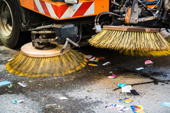 Road Sweeper Royalty Free Stock Photo