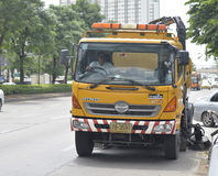 Road Sweeper truck Stock Image
