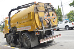 Road Sweeper truck Royalty Free Stock Photo