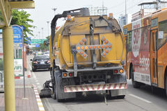 Road Sweeper truck Stock Photo