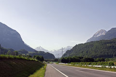 Road in Switzerland Royalty Free Stock Images