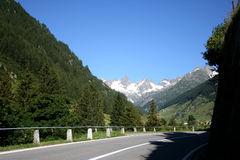 Road on switzerland mountains. Road to the Susten Pass. One of the most scenic excursion trips. The Susten road is open from mid-June until late September Stock Photo