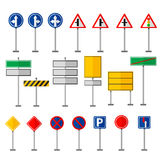 Road symbols traffic signs graphic elements isolated city construction creative street highway information vector Royalty Free Stock Image