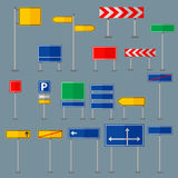 Road symbols traffic signs graphic elements isolated city construction creative street highway information vector Stock Photography