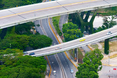 Road system of Singapore Royalty Free Stock Photos