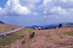 Road. That takes us from Sibiu to Paltinis , ski resort Stock Photography