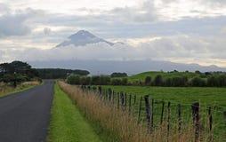 The road and Taranaki Stock Photos