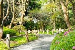 A road in Tea Garden. Japanese Tea Garden, Golden Gate Park, San Francisco, California: 03/23/2018 royalty free stock image