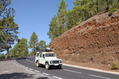 Road in Teide National Park, Tenerife Royalty Free Stock Photography