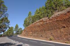 Road in Teide National Park, Tenerife Stock Image