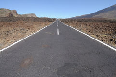 Road in Teide National Park, Tenerife Royalty Free Stock Photo