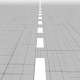 Road template with perspective. Royalty Free Stock Image