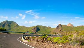 Road in Tenerife Royalty Free Stock Photography