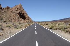 Road on Tenerife, Spain Royalty Free Stock Photos