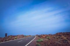 Road through Tenerife in Spain stock image