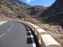 Road on Tenerife. Road in the volcanic mountains of Tenerife Stock Image