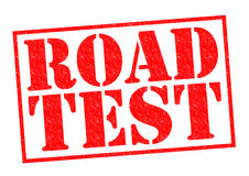 ROAD TEST Royalty Free Stock Images