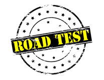 Road test Royalty Free Stock Photography