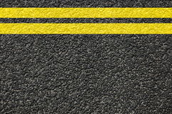 Road texture with lines. Road street or asphalt texture with lines Stock Photography