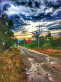 The road. At thailand on afternoon stock image