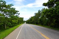 Road,Thailand ,Mukdahan Stock Photography