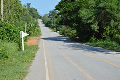 Road in Thailand upcountry Royalty Free Stock Photo