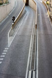 A Road With Three Lanes Dividing. A Road Dividing Into Three Lanes Stock Photography